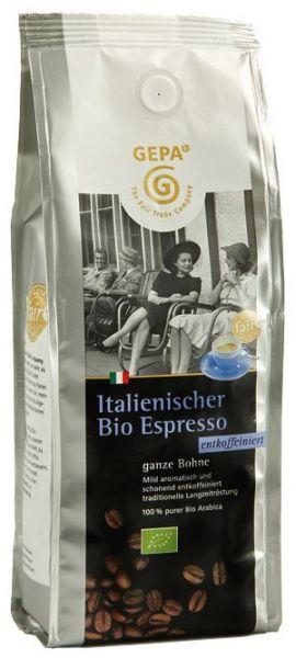 GEPA Italienischer Bio Espresso 250g Bohne entkoffeiniert