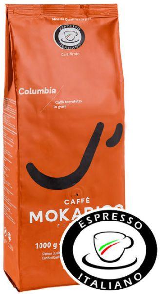 Mokarico Columbia Espresso Kaffee 1000g - Espresso Italiano