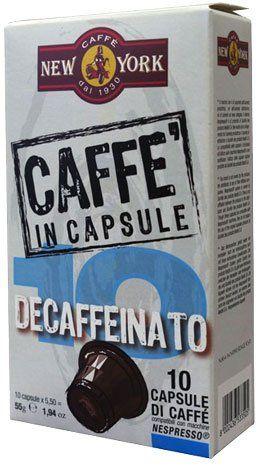 Caffe New York Nespresso Kapseln - ohne Koffein 10 Stück