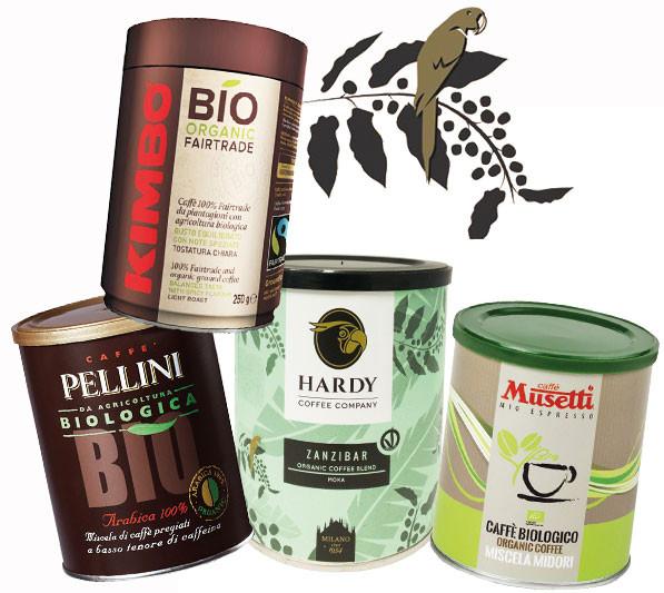 Espresso Set Biokaffee gemahlen