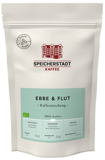 Speicherstadt Kaffee Ebbe und Flut Kaffeemischung gemaheln
