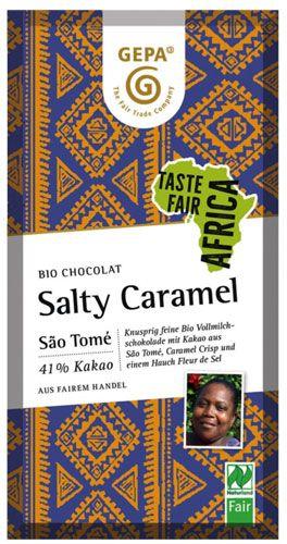 GEPA Bio Schokolade Salty Caramel - Taste Africa   80g Tafel