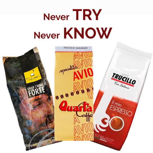 Probierset Espresso Kaffee | Filicori Zechini | Quarta Caffè | Trucillo Caffè