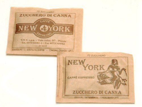 Caffe New York, Zuckerdispenser, 100 Stück, brauner Zucker