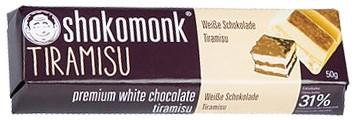 Shokomonk - Weiße Schokolade mit Tiramisu 50g
