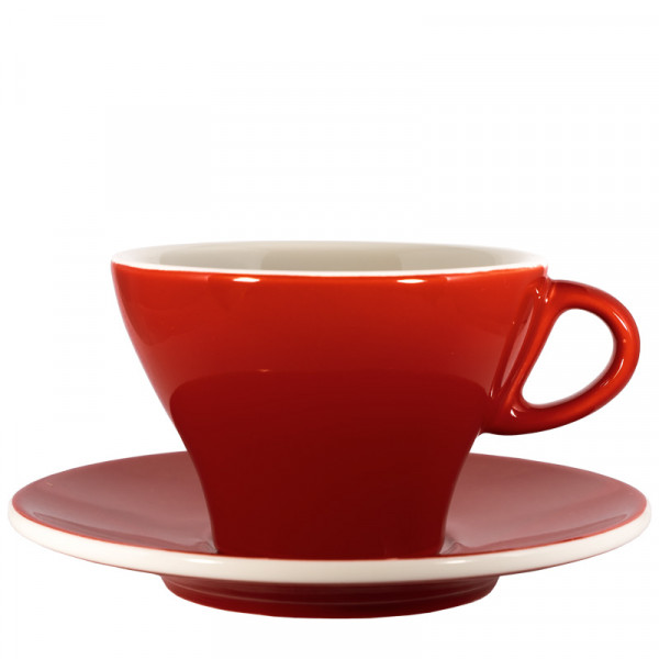 Milchkaffeetasse bunt - Rot