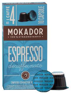 10 Mokador Nespresso®-kompatible Kapseln Decaffeinato