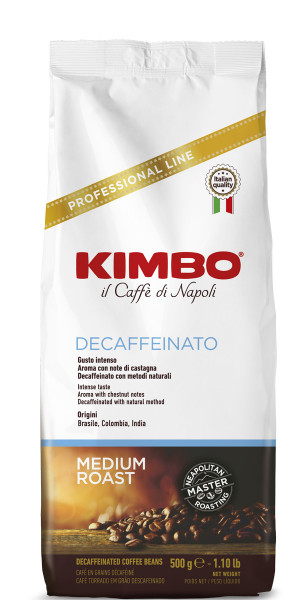 Kimbo Espresso entkoffeiniert   500g Bohne