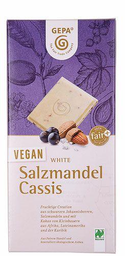 Gepa Schokolade - Salzmandel und Cassis
