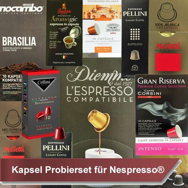 Probierset - Kapseln für Nespresso®*
