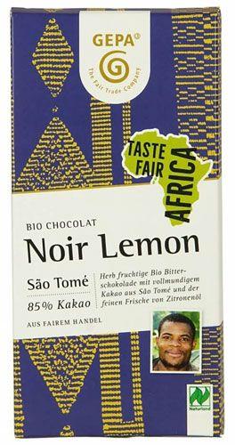 GEPA Bio Schokolade Lemon Noir | 80g Schokotafel