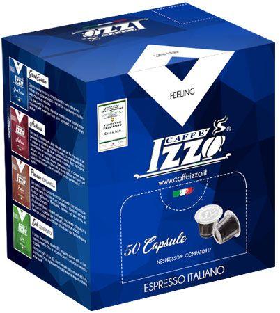 Izzo 50 Nespresso Premium Espresso Kapseln - 100% Arabica