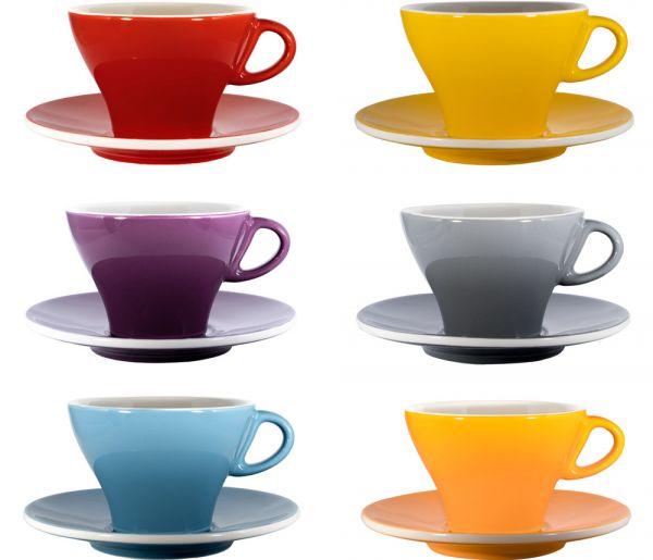 Bunte Milchkaffeetassen Set 6 Stück