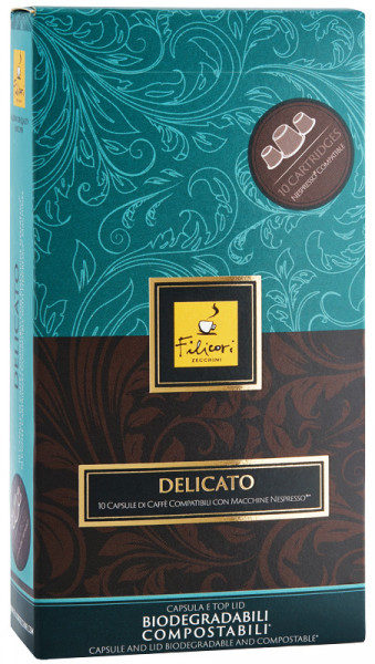 Filicori Zecchini Delicato Espresso Kapseln (Kompostierbare Kaffeekapseln)