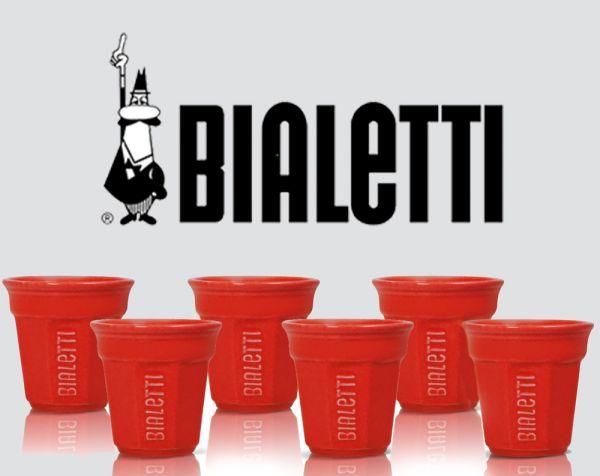 Bialetti Tassen Rot 6er Pack