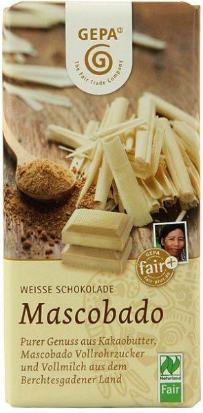 GEPA Weisse BIO Schokolade Mascobado
