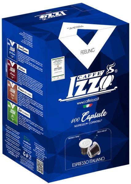 100 Izzo 100% Arabica Premium Espresso Nespresso®* Kapseln Alternative