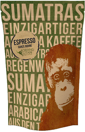 Speicherstadt Kaffee Orang Utan Sumatra