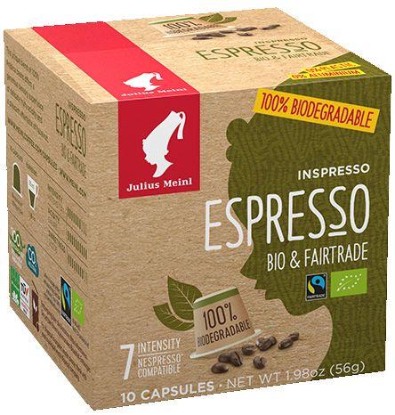 Julius Meinl kompostierbare Kapseln bio Fairtrade Espresso