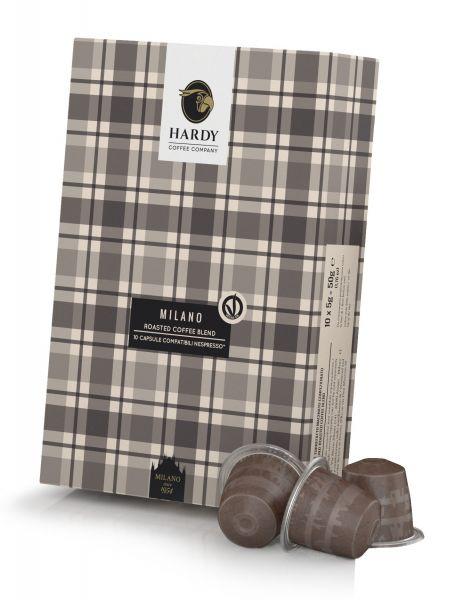 10 HARDY Milano Nespresso®* kompatible Kapseln