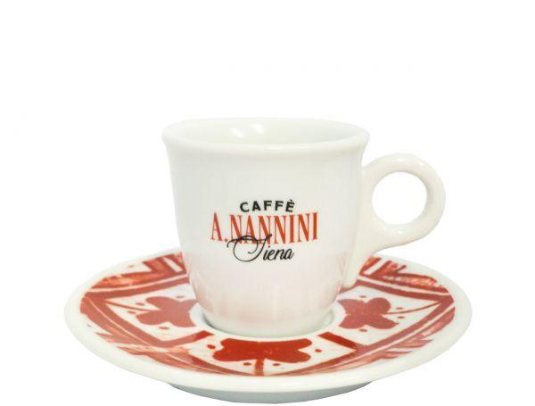 Nannini Espresso Tasse Rot