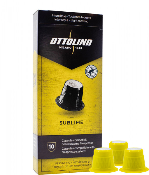 10 Ottolina Nespresso®* kompatible Kapseln Sublime