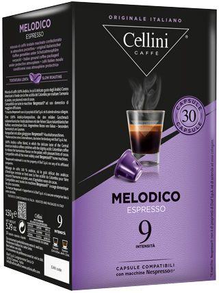 30 Cellini MELODICO Nespresso®* kompatible Kapseln