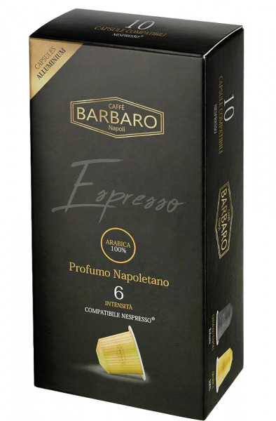 Barbaro Nespresso®*-kompatible Kapseln 100% Arabica