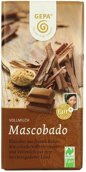 GEPA Vollmilch BIO Schokolade Mascobado